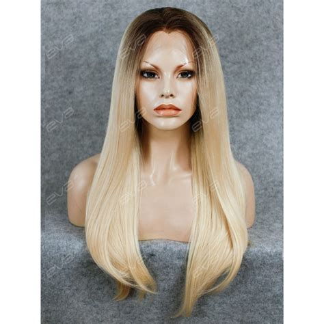 blonde wig colours best seller blonde ombre color long straight synthetic