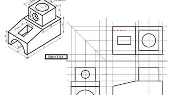 section plane engineering drawing engineering drawing tutorials orthographic drawing with