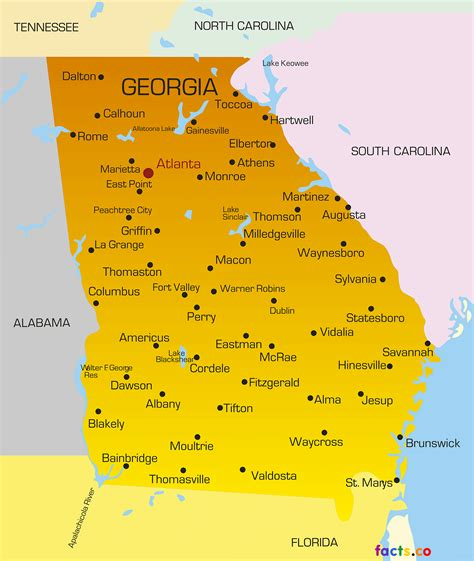 georgia map cities ga georgia maps political physical cities and blank outline