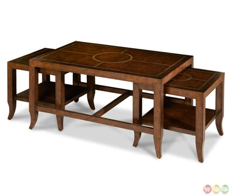 michael amini discoveries 3 piece bunching table set lmgs 008 by aico