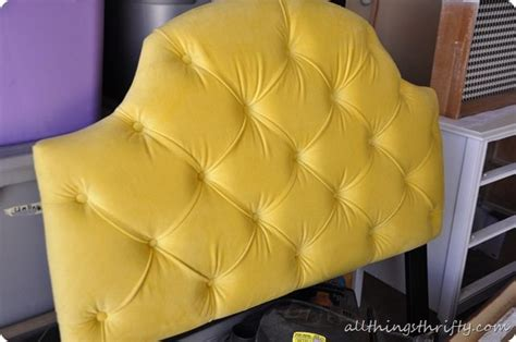 all things thrifty headboard yellow tufted headboard love all things thrifty