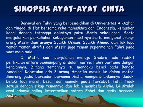 isi film ayat ayat cinta unsur intrinsik novel aac