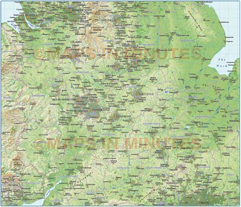 map of central uk digital vector central map with regular shaded