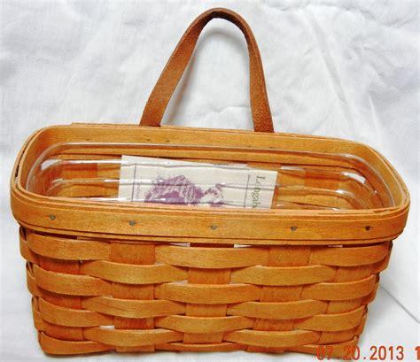 longaberger baskets longaberger medium key basket handwoven 11100 ebay