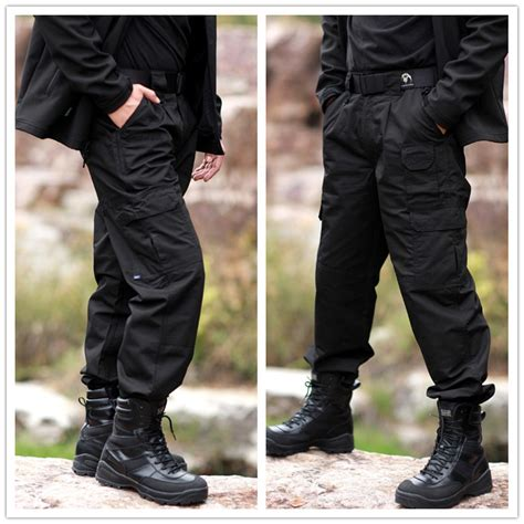 Tbgm Overall Black Army combat tactical army black cargo s sweatpants actives trousers casual