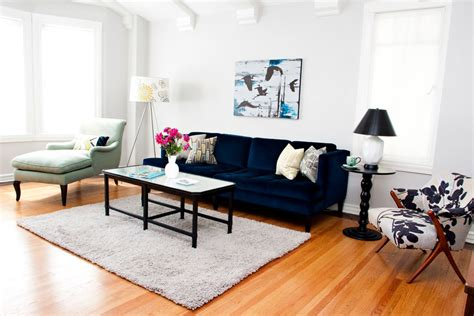 Navy Blue Sofa Living Room Contemporary With Abstract Art Navy Blue Couches Living Room