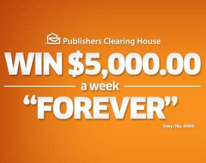How To Win The Publishers Clearing House - how to win publishers clearing house sweepstakes 28 images pch 5000 a week for