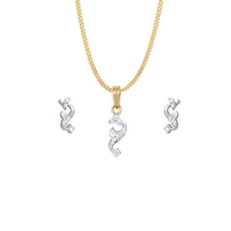 pendant set tanishq yellow gold pendant set manufacturer