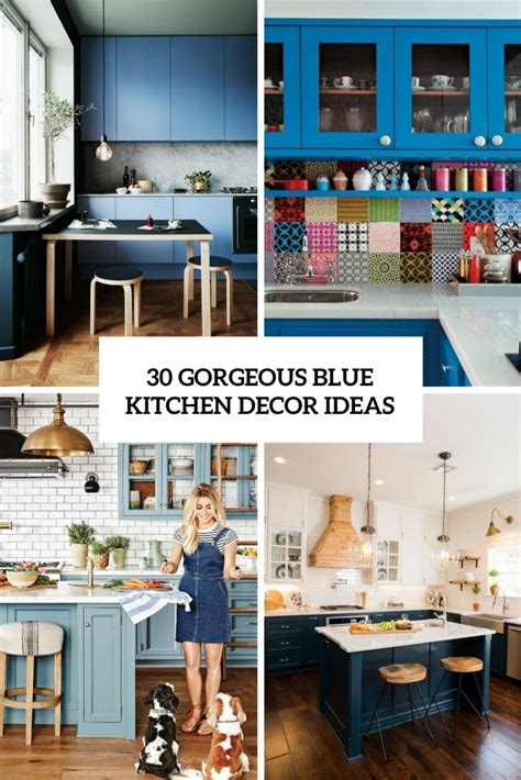 Blue Kitchen Decorating Ideas by 30 Gorgeous Blue Kitchen Decor Ideas Digsdigs