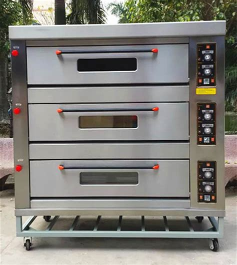 Oven Gas 2 Tray 3 deck 9 trays lpg gas pizza oven commercial buy pizza