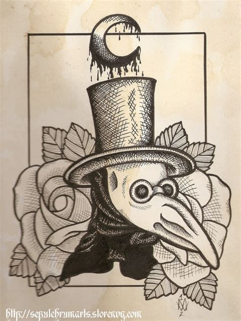 the plague doctor tattoo idea tattoo designs pinterest