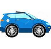Dibujos Animados Graciosos Auto Azul — Archivo Im&225genes