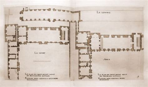 the louvre floor plan detail of part of the louvre palace floor plan louvre