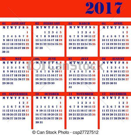 Calendario Can 2017 Banco De Fotografia De Calend 225 2017 Ano Calend 225