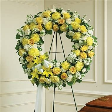 Yellow Standing L by Yellow White Standing Wreath Flowerstogo