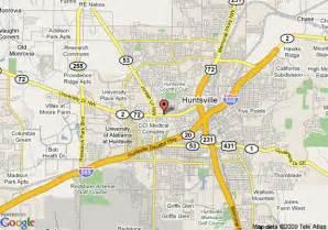 map of 8 huntsville alabama huntsville