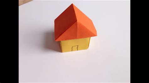 Simple Origami House - easy origami paper house crafts paper crafts