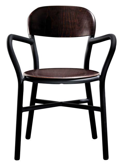 stackable armchairs pipe stackable armchair wood metal black dark beech by magis