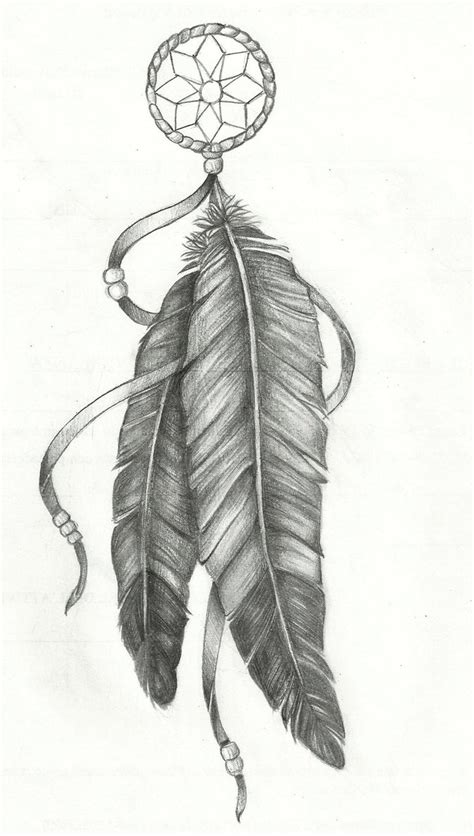 dreamcatcher feathers drawn dreamcatcher feather pencil and in color drawn