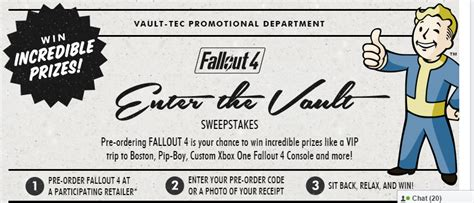 Https Truart Co Enter Amazon Sweepstakes - fallout 4 enter the vault sweepstakes gaming strats forum