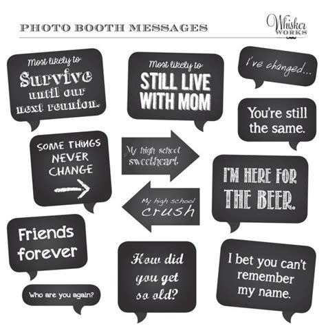 printable photo booth prop signs diy photo booth printables chalkboard signs reunion