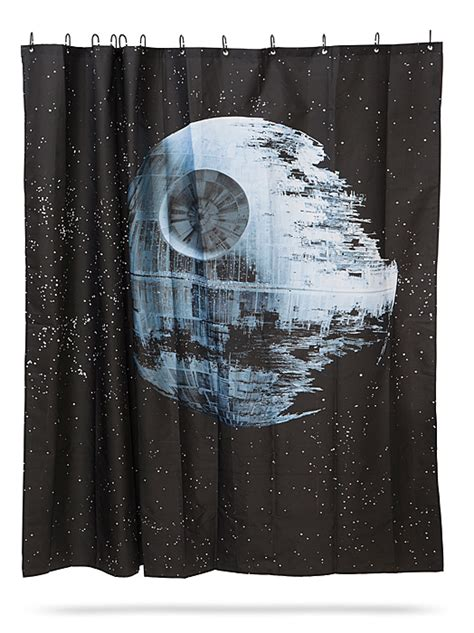 star wars drapes star wars death star shower curtain thinkgeek