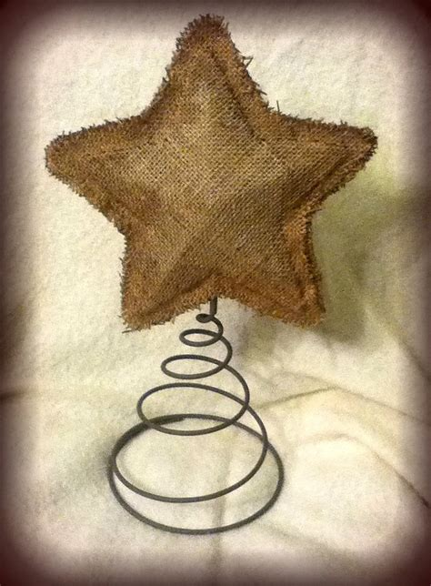 Handmade Tree Topper - handmade burlap tree topper
