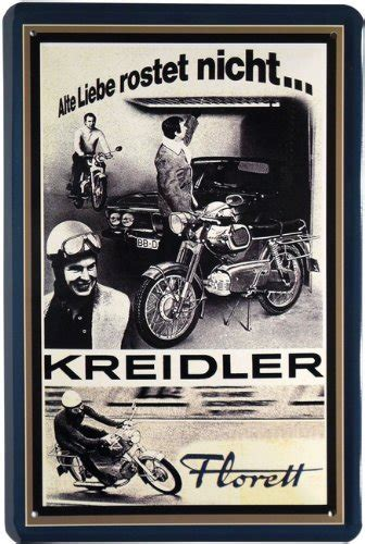 Motorrad Kreidler by Motorrad Kreidler Motorrad Blechschild