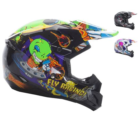 fly racing motocross helmets fly racing 2017 kinetic invazion youth motocross helmet