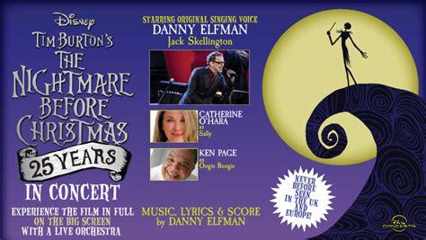 danny elfman nightmare before christmas live uk see the nightmare before christmas live in concert