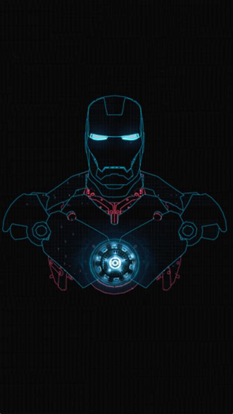iron man glow  iphone wallpapers