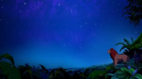 film lion on sky animated movies the lion king jungle night sky wallpaper