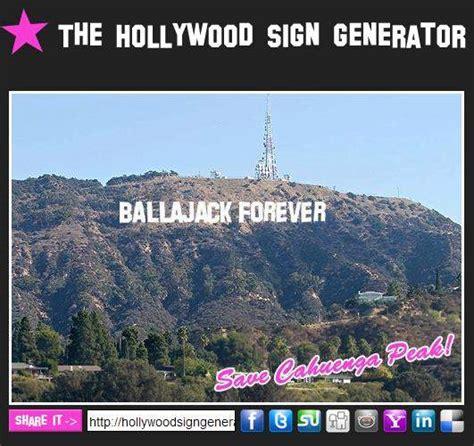 hollywood sign generator facebook ecrire son nom sur la colline d hollywood les infos de