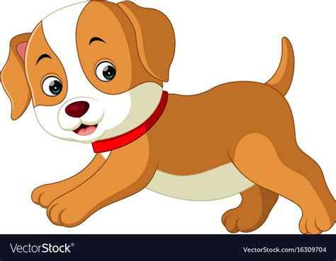 cute dog cartoon royalty  vector image vectorstock