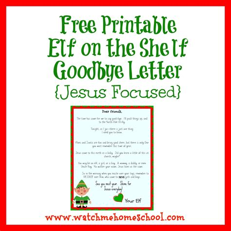 printable letters from elf on the shelf free printable elf on the shelf goodbye letter jesus
