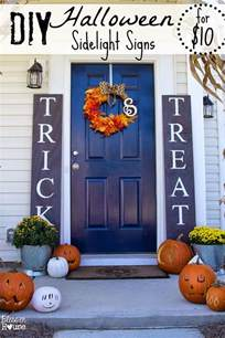 Country French Home Decor diy halloween sidelight signs and fall porch reveal