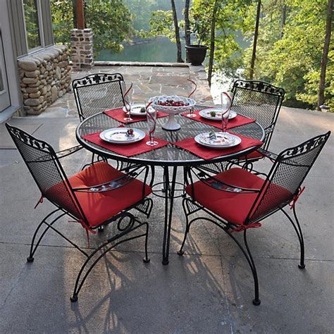 Furniture Wrought Iron Garden Table And Chairs Wrought Outdoor Patio Tables