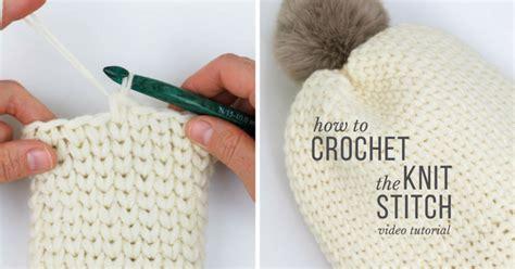 how to crochet knit stitch how to crochet the knit stitch fb make do crew