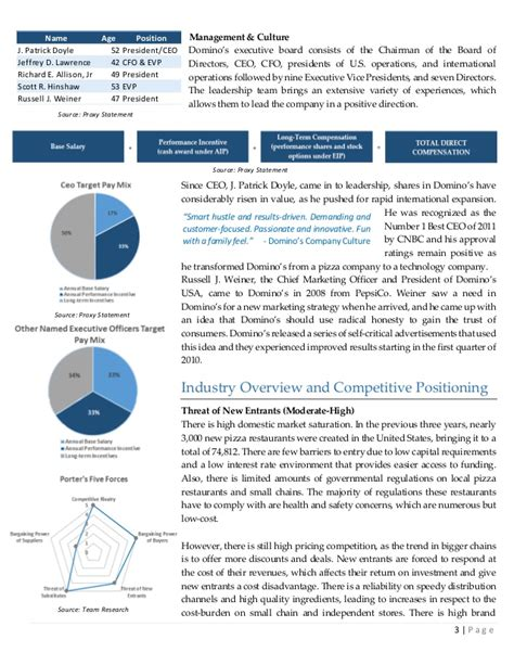 equity research report sle domino s equity research report