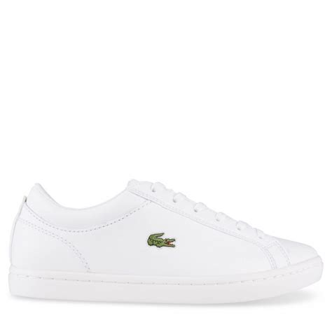 lacoste straightset bl1 womens white white leather hype dc