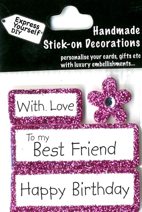 how to make a best friend card happy birthday best friend diy greeting card toppers