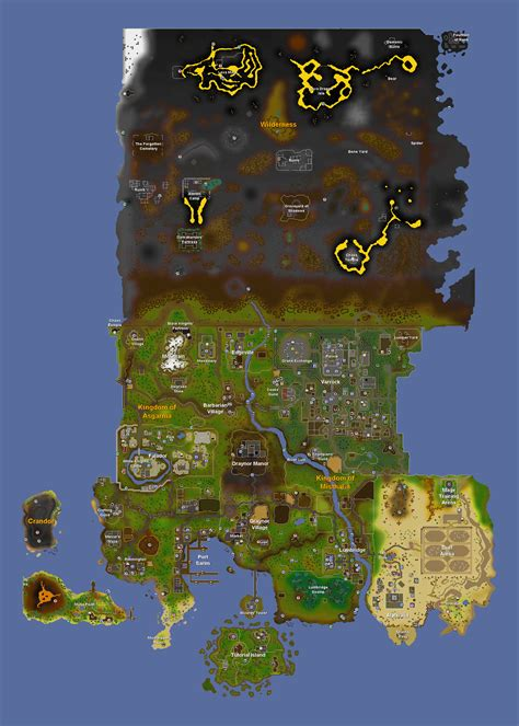 osrs runescape wilderness map map of osrs map of abyss osrs map of gwd osrs