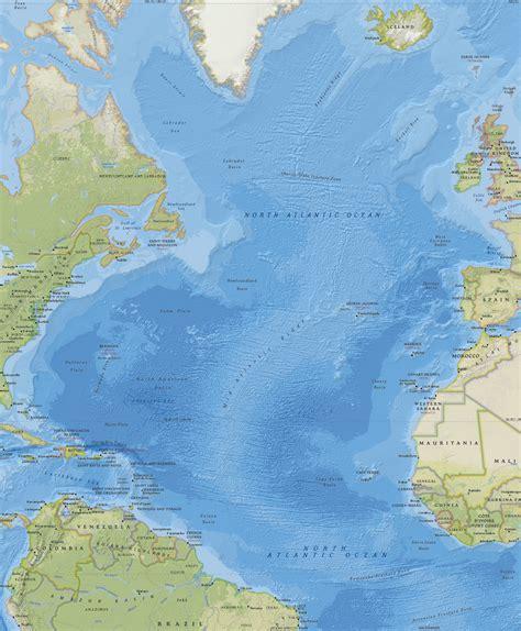 imagenes satelitales oceano atlantico mapa do oceano atl 226 ntico norte