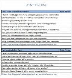 conference planning timeline template doc 585632 event timeline 9 event timeline templates