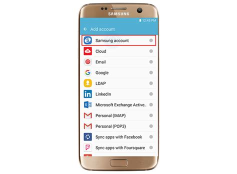 my samsung mobile account samsung galaxy s7 edge how to add remove your samsung