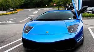 new blue car blue lamborghini murcielago lp640 hd car wallpaper car