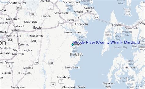 river county map rhode river county wharf maryland tide station location