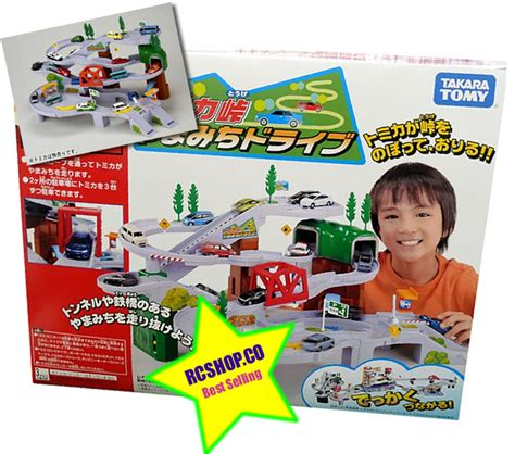 New Tomica Gift Drive To The Mountain Road Car Set tomy mountain drive circular highway play set railway road