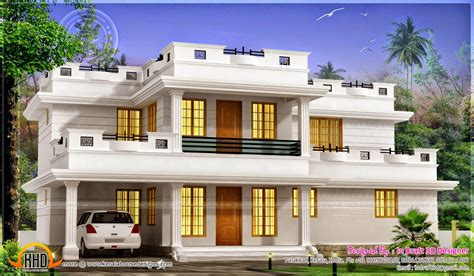 desain rumah atap datar desain rumah moderen dengan atap datar 2 lantai desain