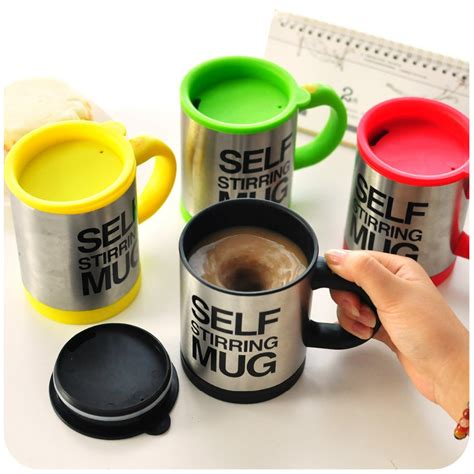 Mug Unik Self Stirring Blender Diskon self stirring coffee cup mugs electric coffee mixer automatic electric travel mug coffee mixing